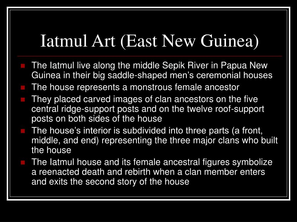 Iatmul Art (East New Guinea)
