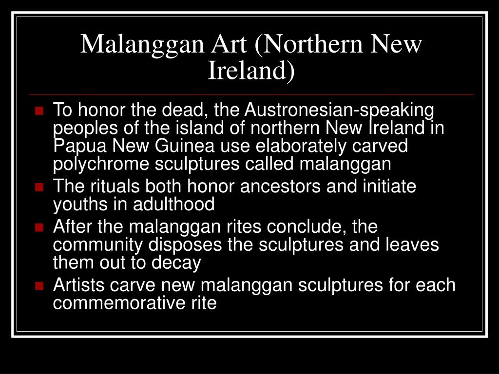 Malanggan Art (Northern New Ireland)