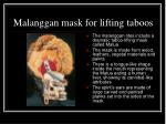 malanggan mask for lifting taboos