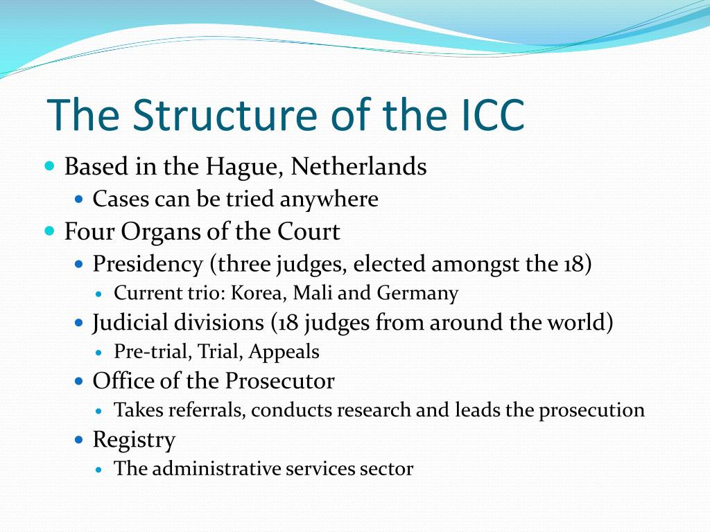 The Structure of the ICC