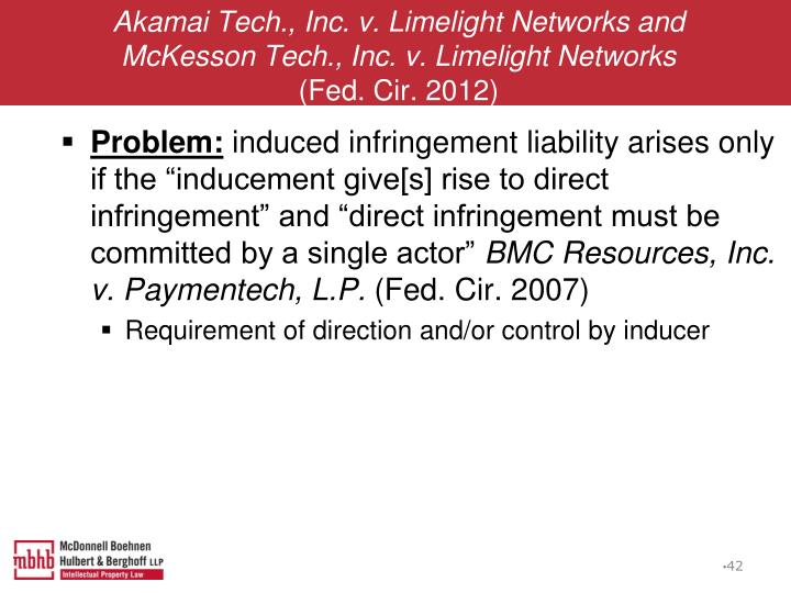 Akamai Tech., Inc. v. Limelight Networks and