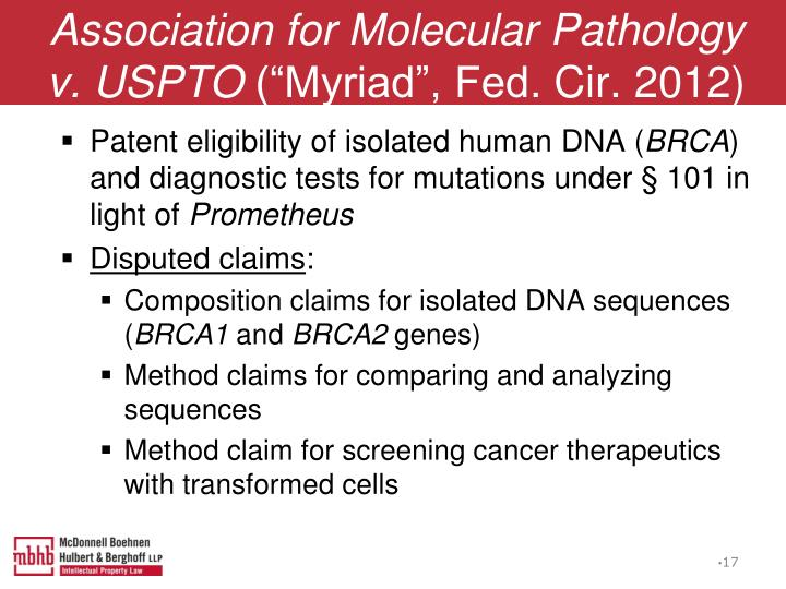 Association for Molecular Pathology v. USPTO