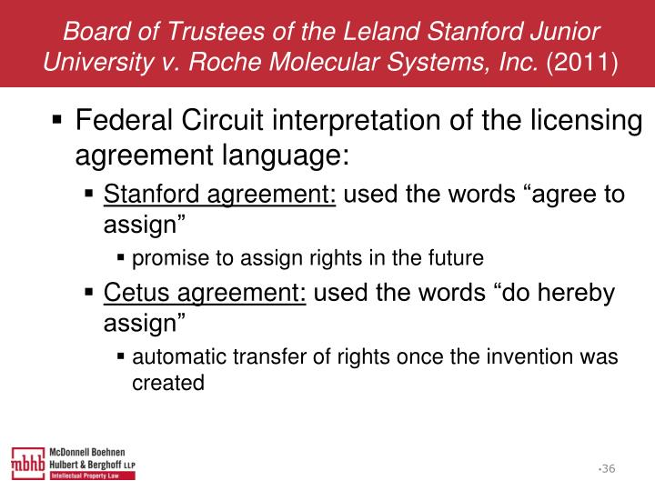 Board of Trustees of the Leland Stanford Junior University v. Roche Molecular Systems, Inc.