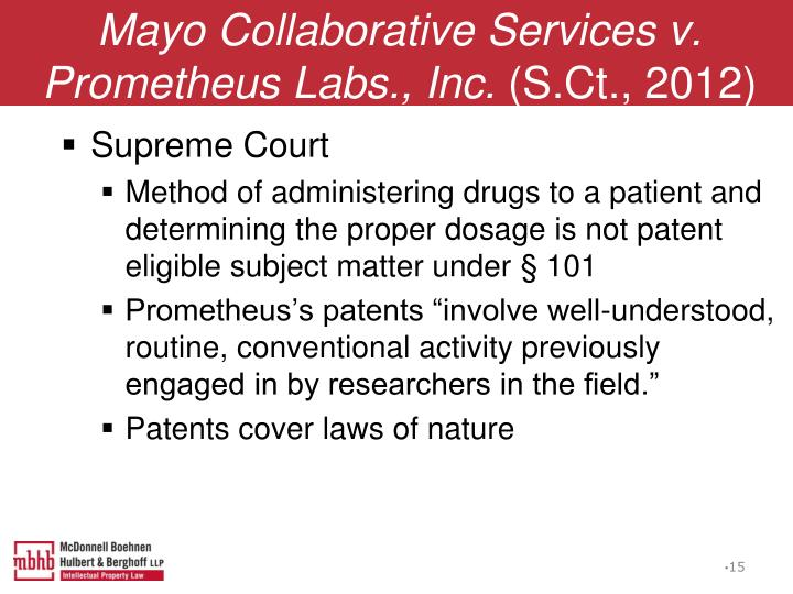 Mayo Collaborative Services v. Prometheus