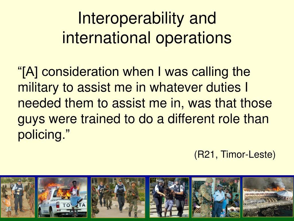 Interoperability and