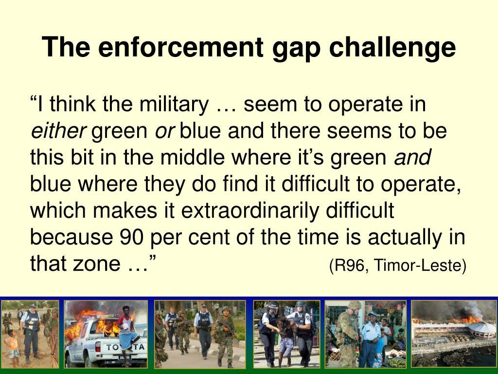 The enforcement gap challenge