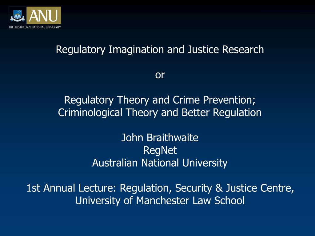 Regulatory Imagination and Justice Research