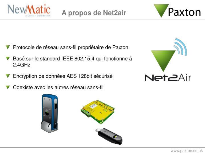 Protocole de réseau sans-fil propriétaire de Paxton