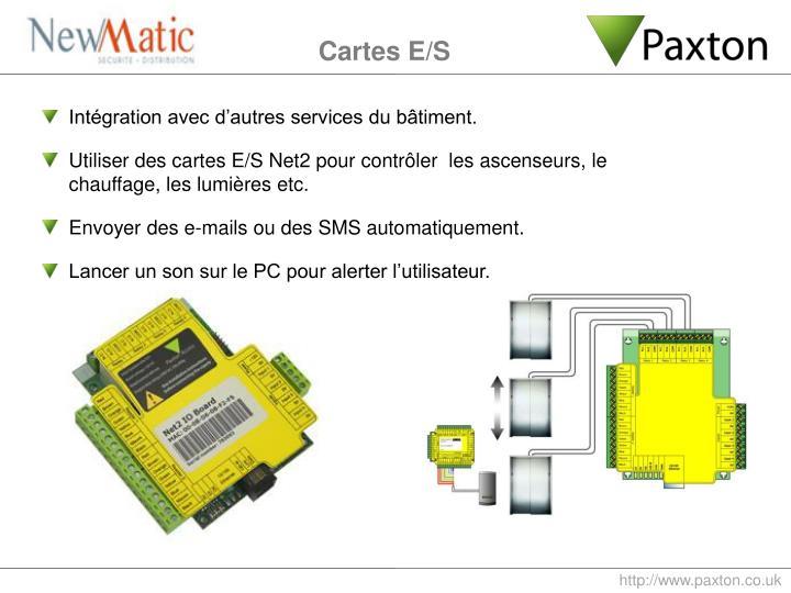 Intégration avec d'autres services du bâtiment.