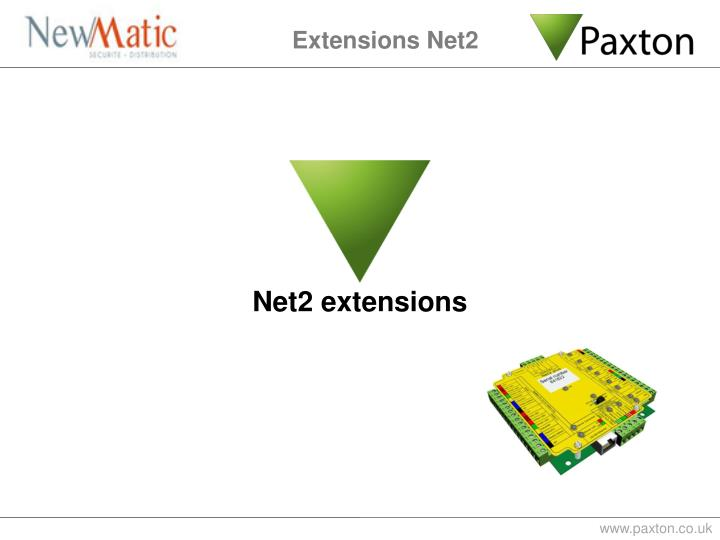 Extensions Net2
