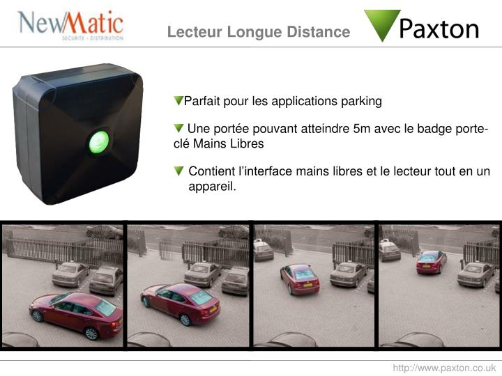 Parfait pour les applications parking