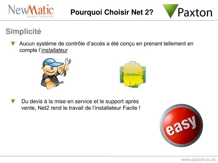 Pourquoi Choisir Net 2?