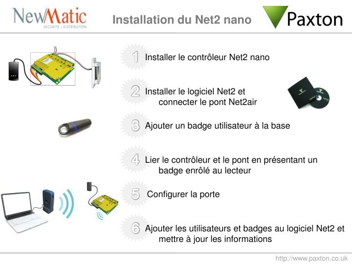 Installation du Net2 nano
