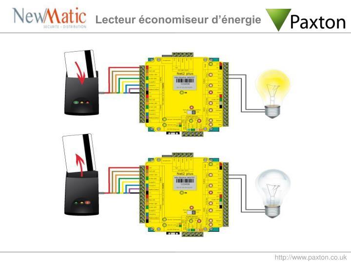Lecteur économiseur d'énergie