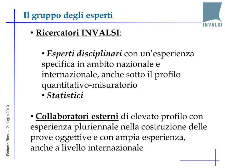 Il gruppo degli esperti