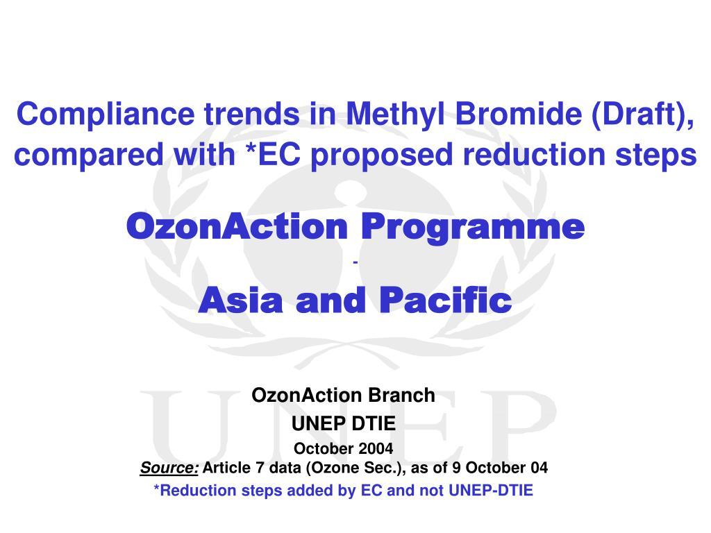 Compliance trends in Methyl Bromide (Draft),