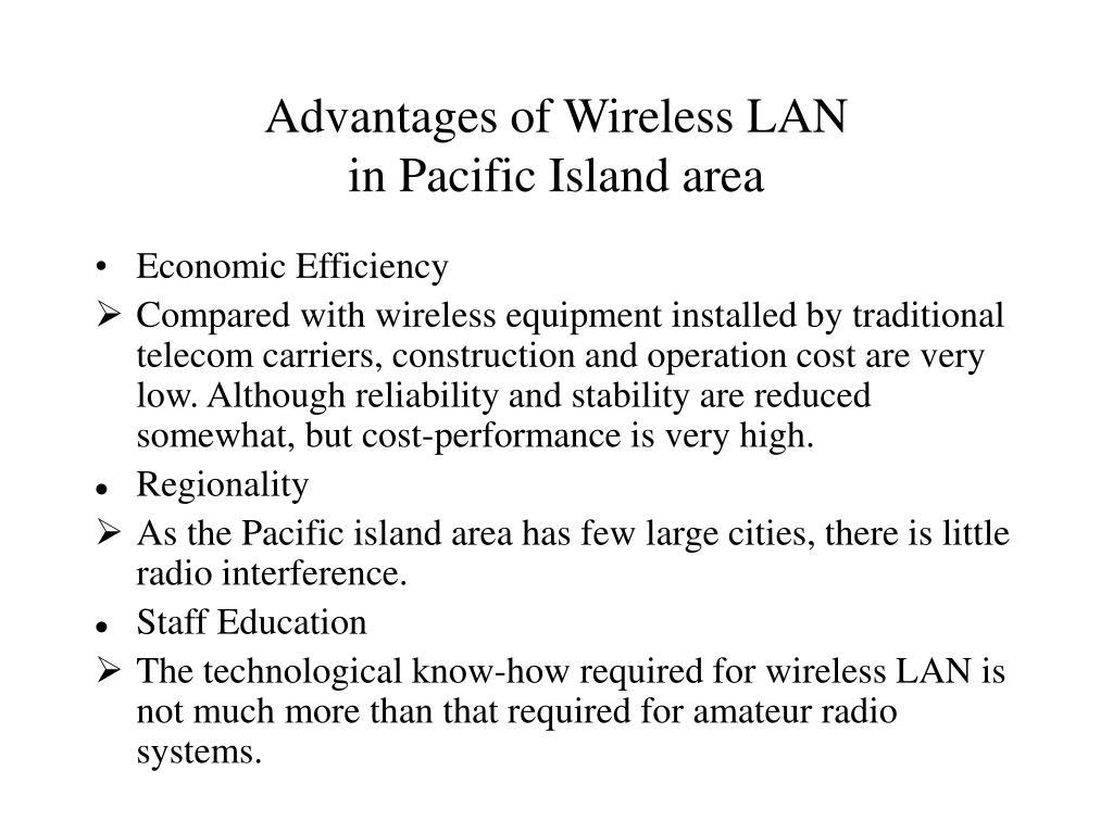 Advantages of Wireless LAN