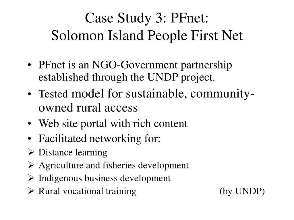 Case Study 3: PFnet: