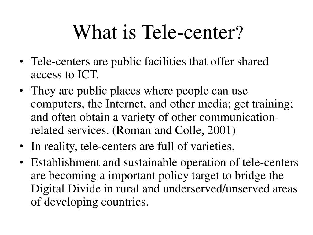 What is Tele-center