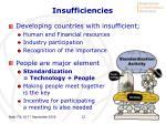 insufficiencies