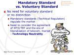 mandatory standard vs voluntary standard