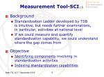 measurement tool sci 1