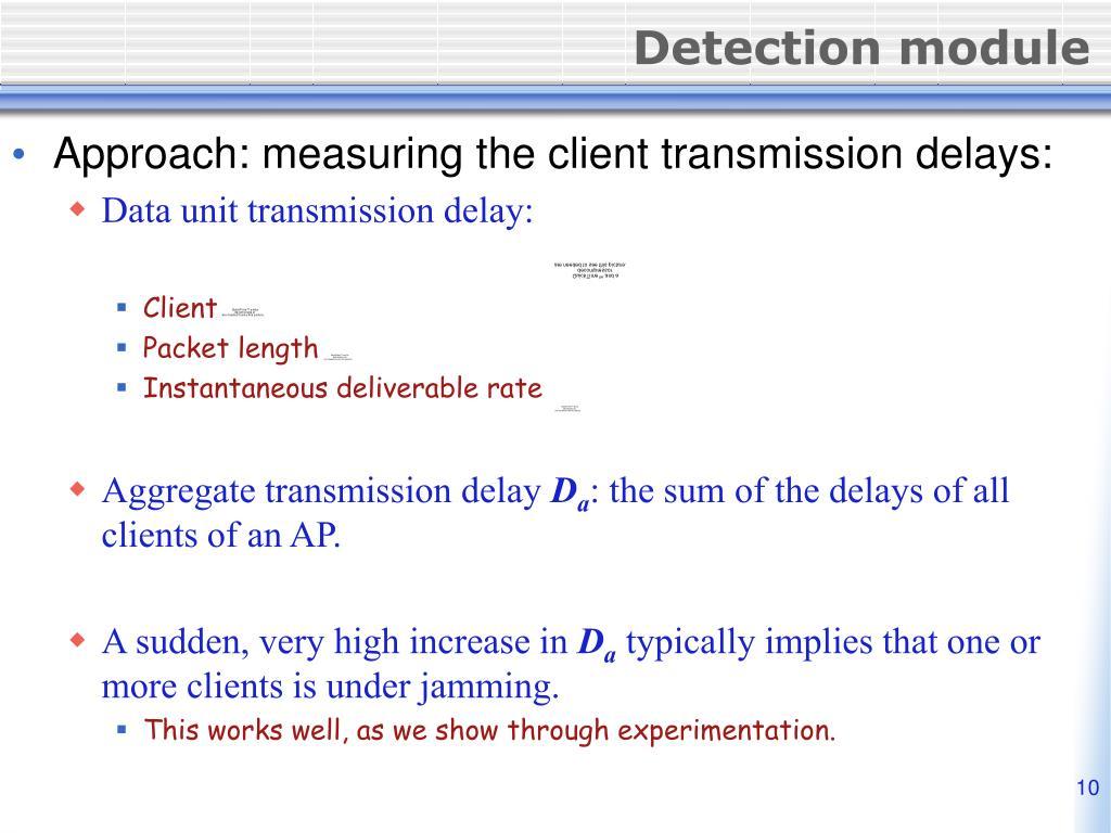 Detection module