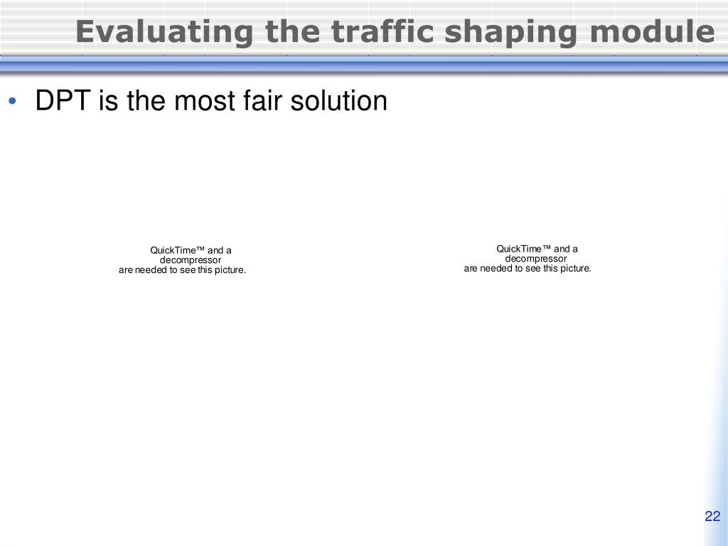 Evaluating the traffic shaping module
