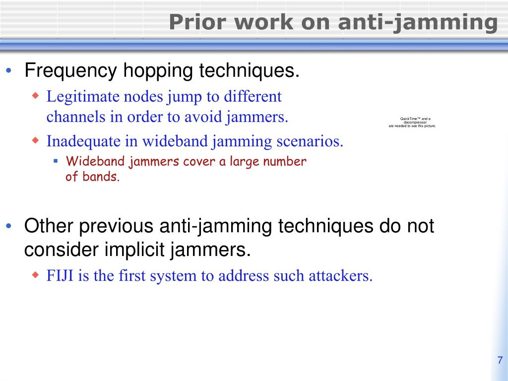Prior work on anti-jamming