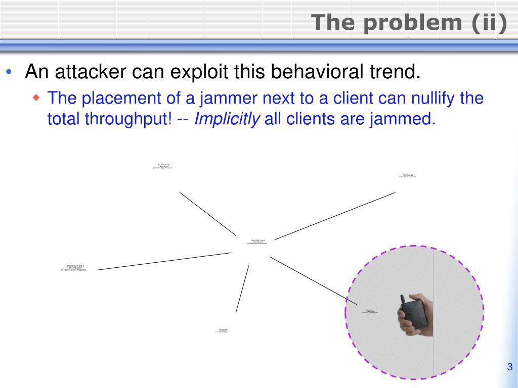 The problem (ii)