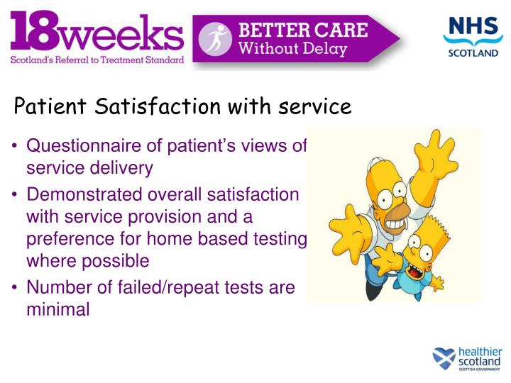 Patient Satisfaction with service