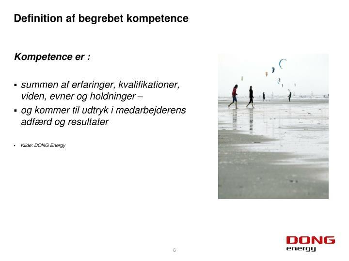 Definition af begrebet kompetence