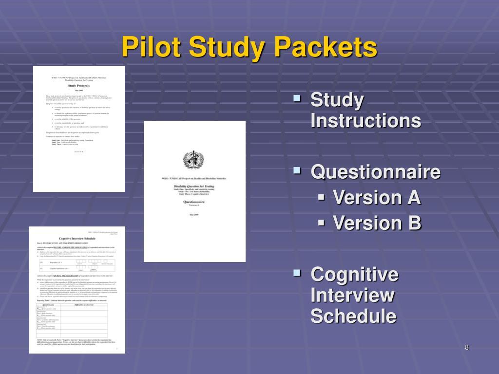 Pilot Study Packets