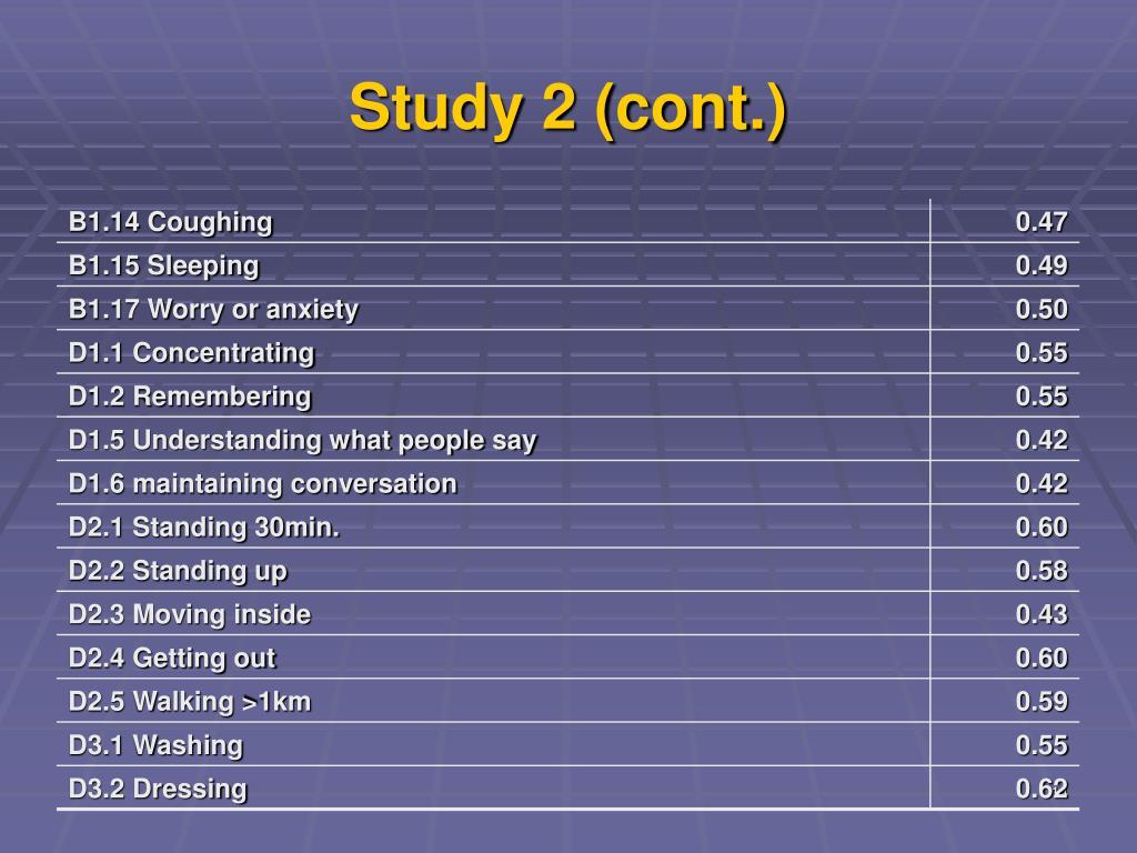 Study 2 (cont.)