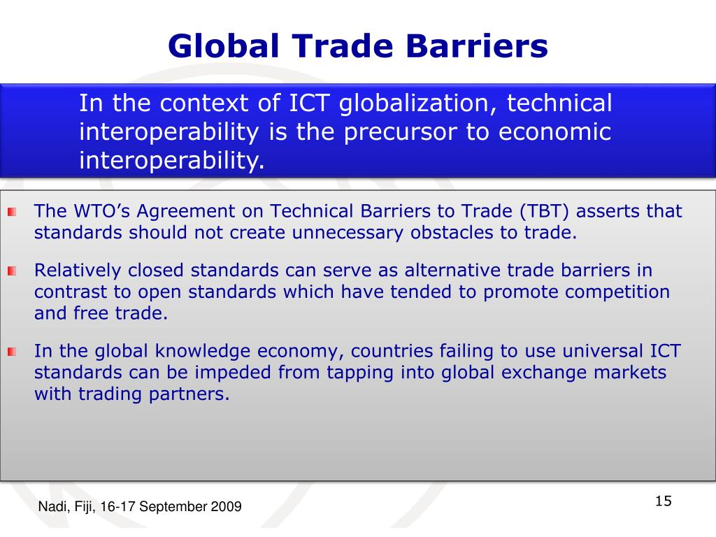Global Trade Barriers
