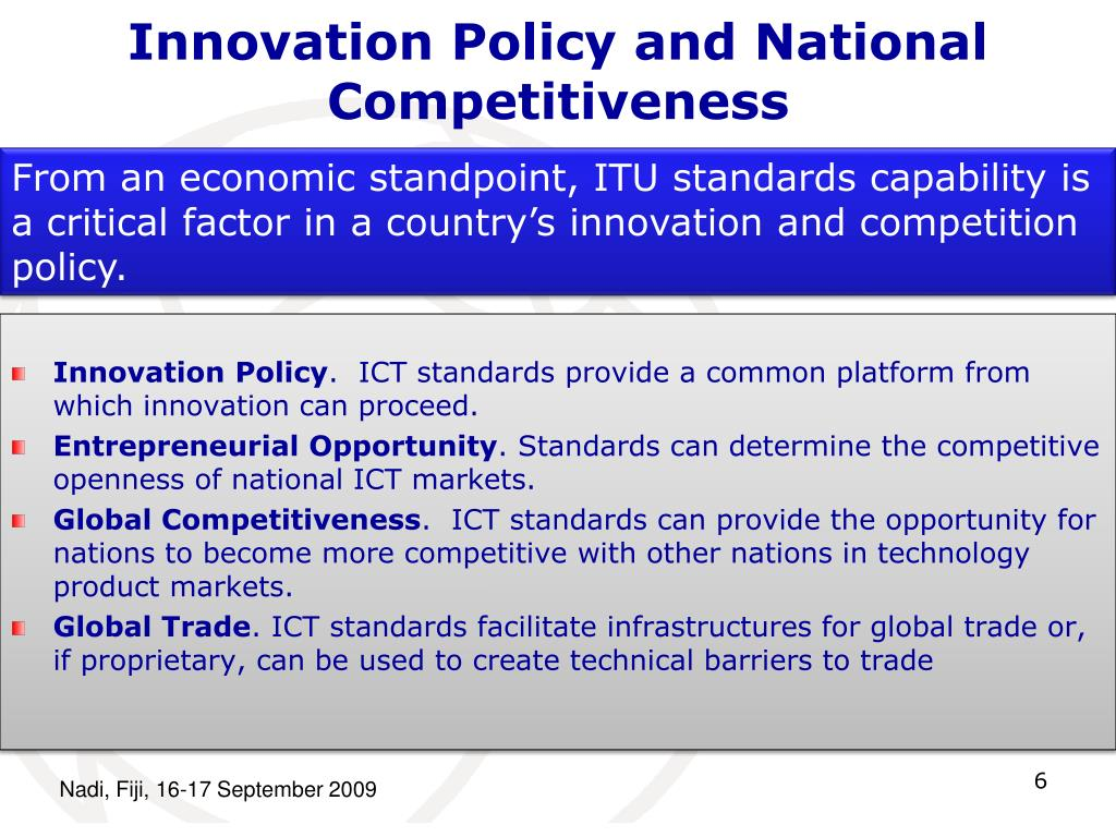 Innovation Policy and National Competitiveness
