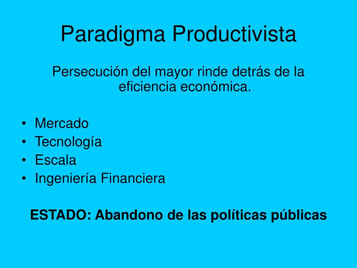 Paradigma Productivista