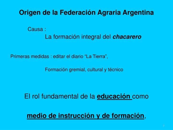 Origen de la Federación Agraria Argentina