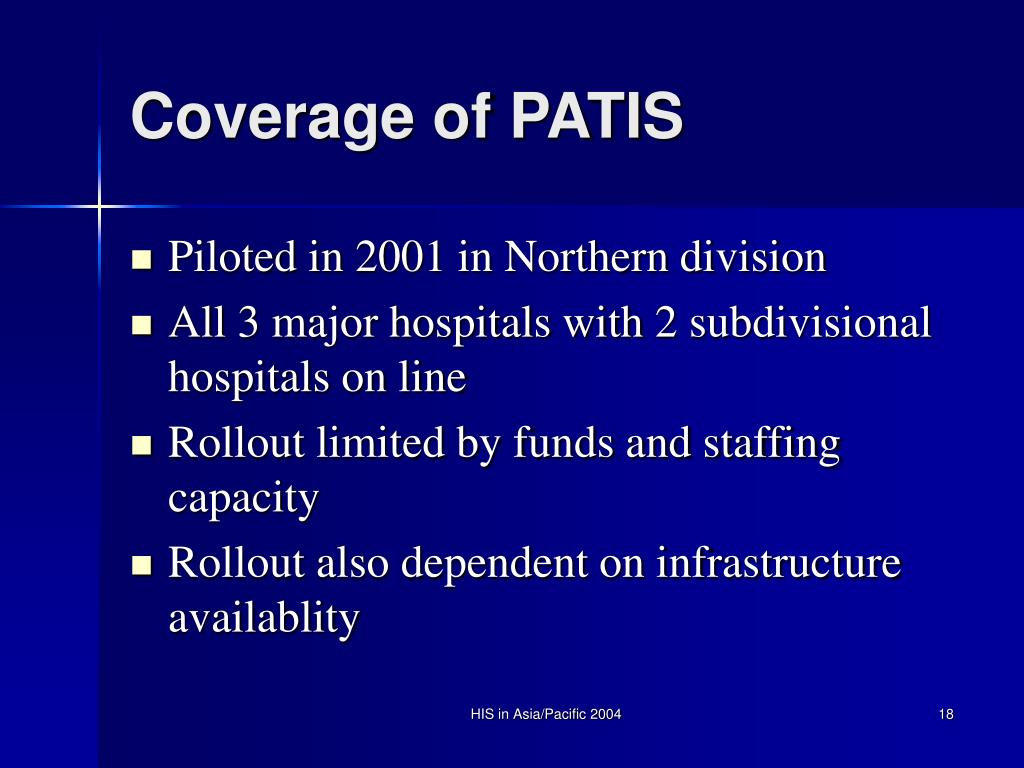 Coverage of PATIS