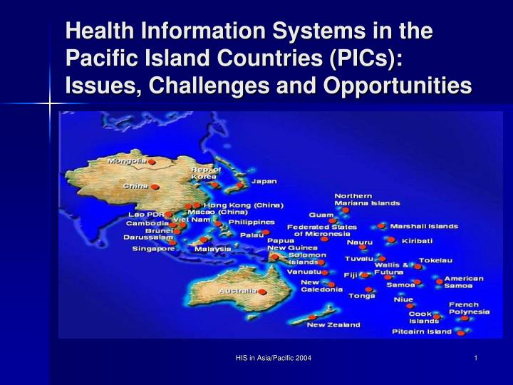 Health information systems in the pacific island countries pics issues challenges and opportunities
