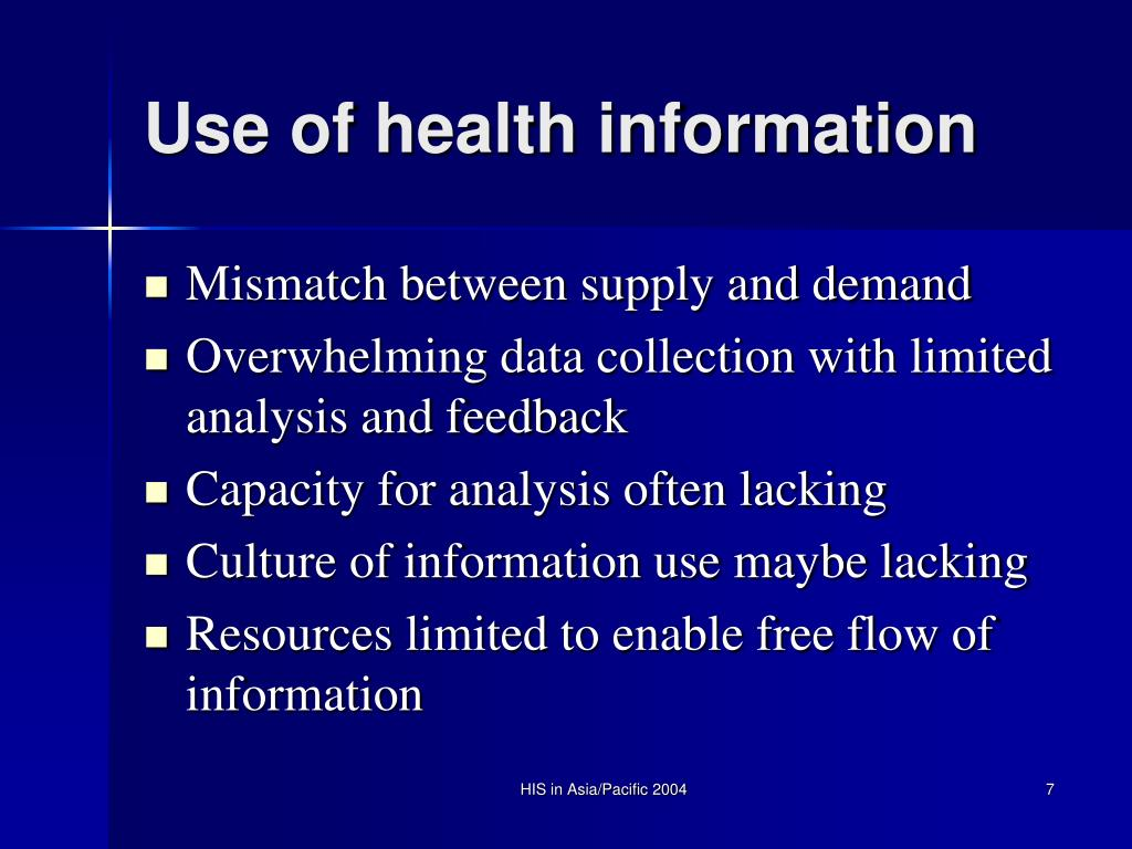 Use of health information
