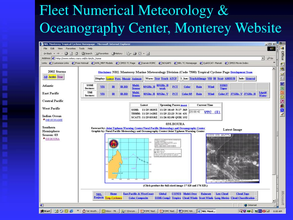 Fleet Numerical Meteorology & Oceanography Center, Monterey Website