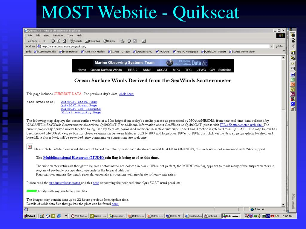 MOST Website - Quikscat