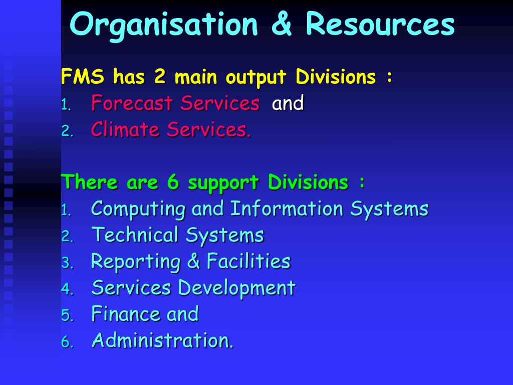 Organisation & Resources