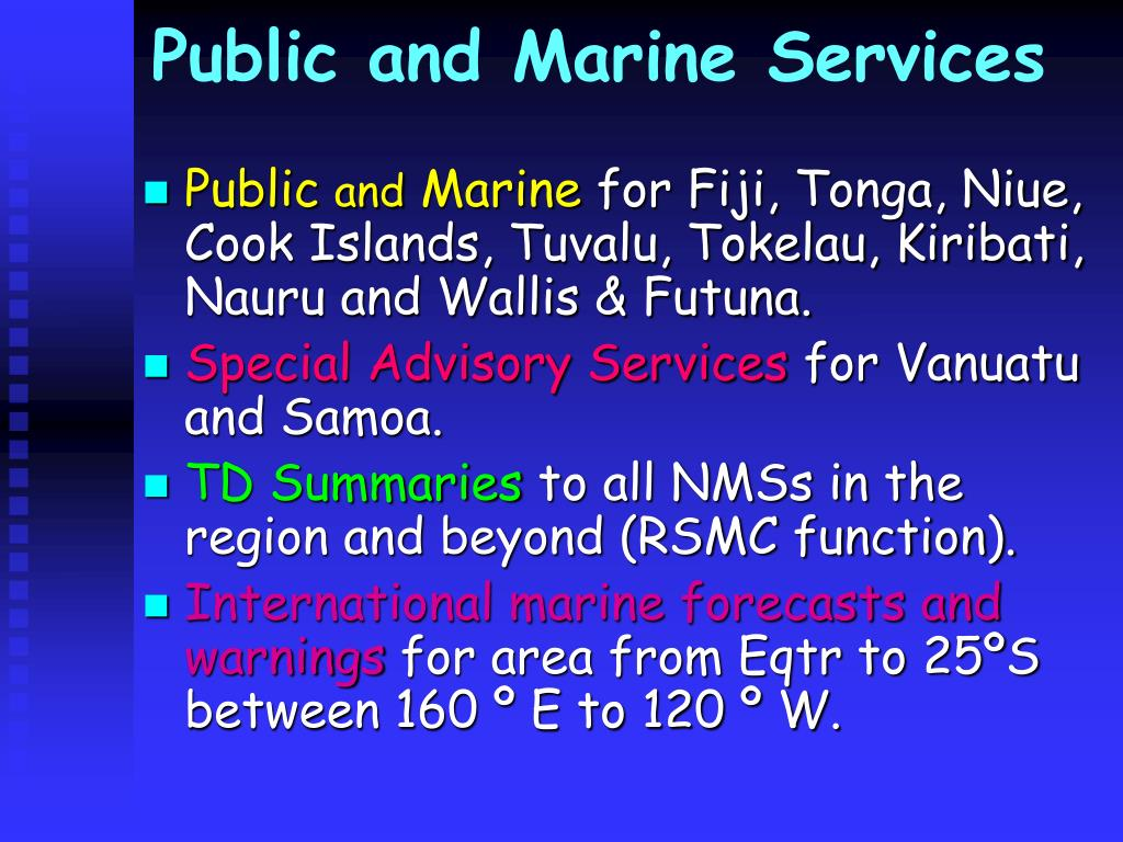 Public and Marine Services