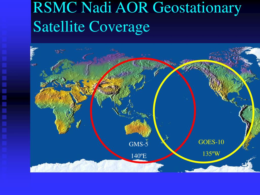 RSMC Nadi AOR Geostationary Satellite Coverage