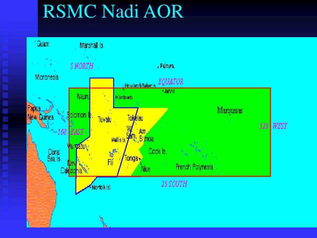 RSMC Nadi AOR