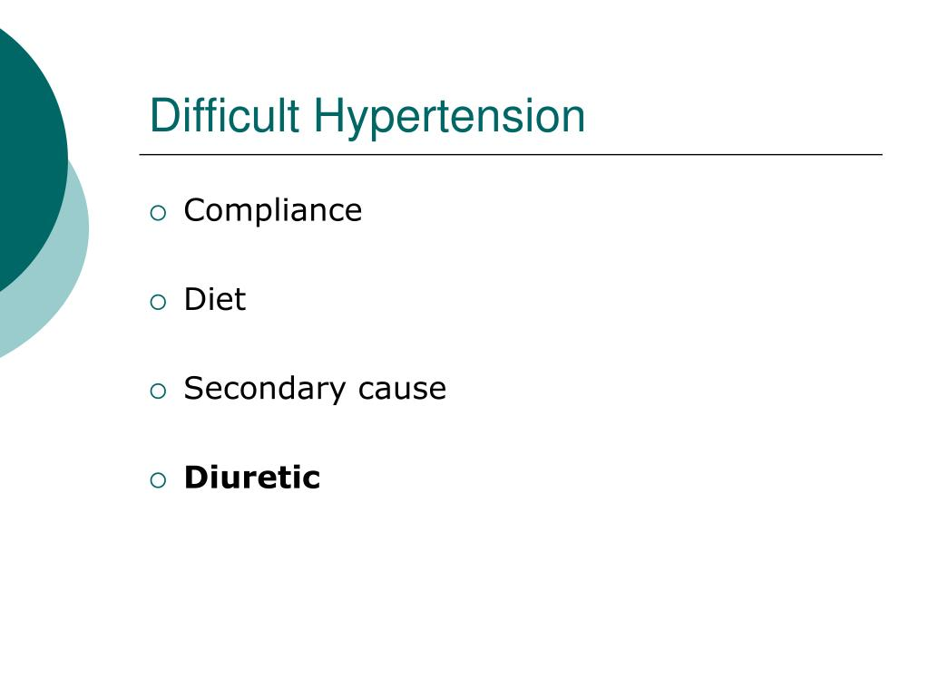 Difficult Hypertension