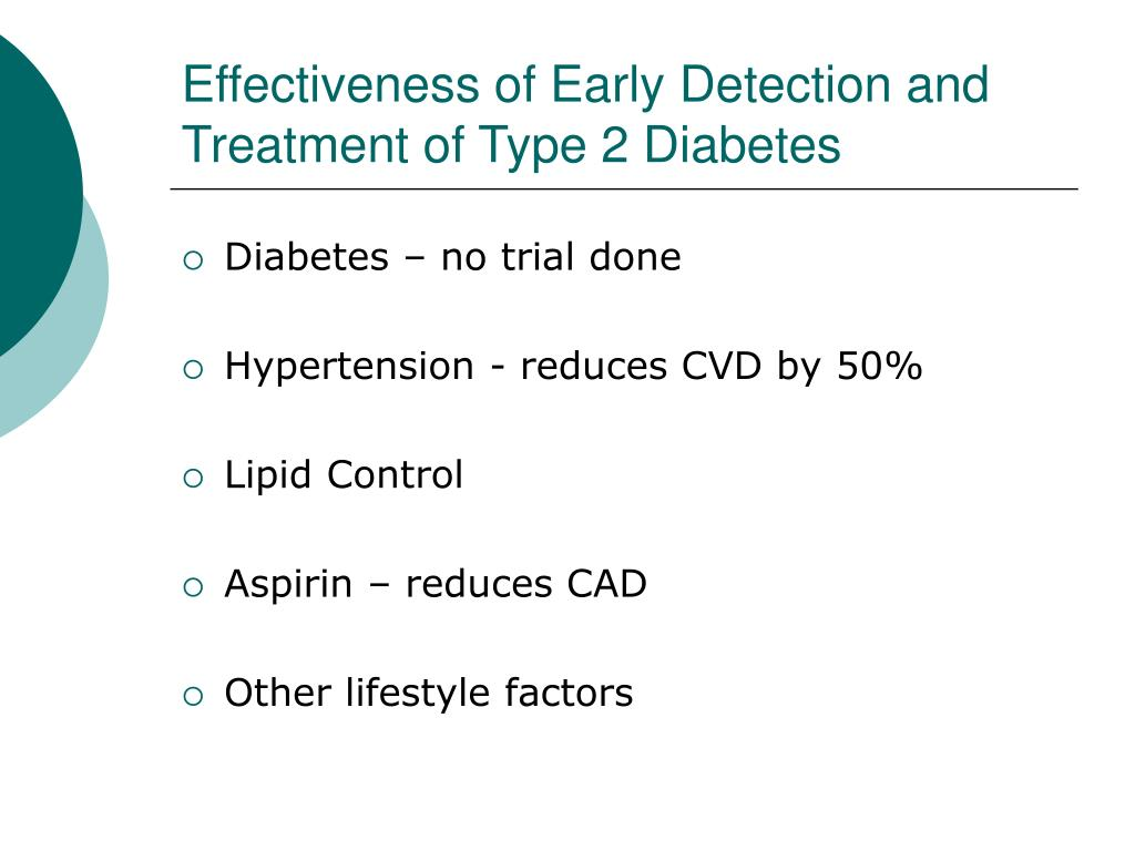 Effectiveness of Early Detection and Treatment of Type 2 Diabetes
