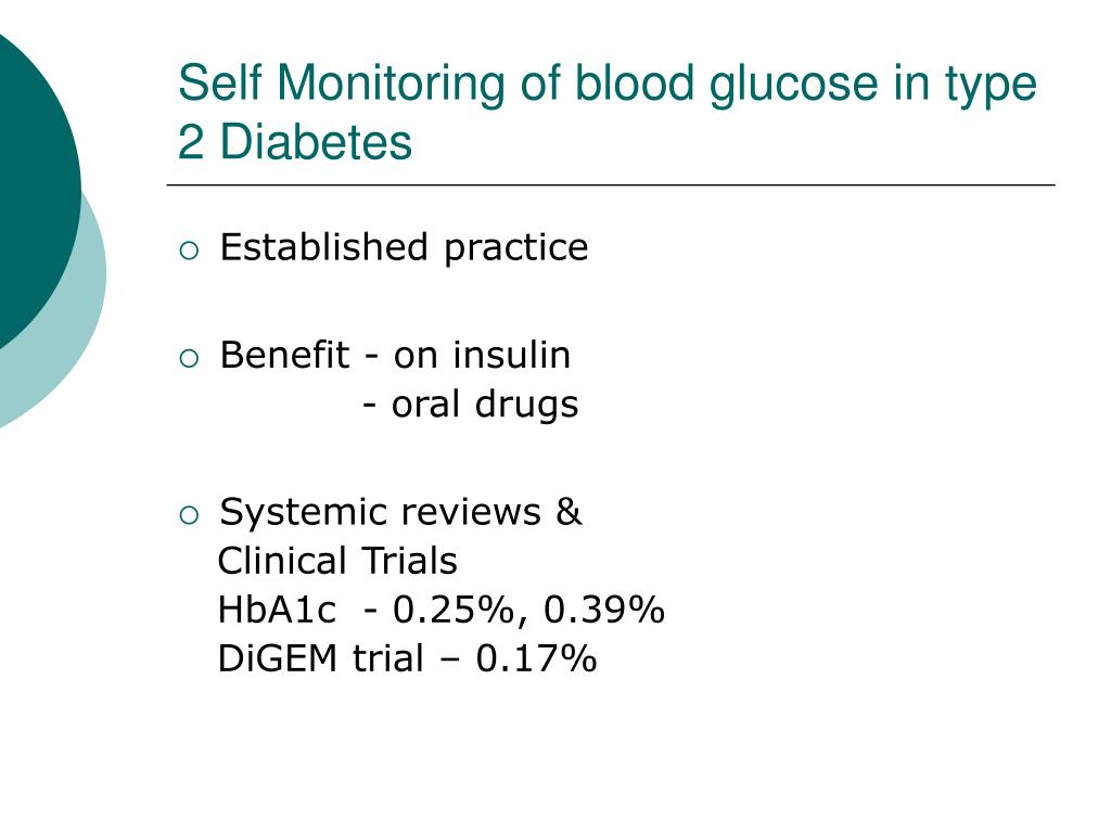 Self Monitoring of blood glucose in type 2 Diabetes